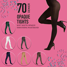 Girls Back To School 70 Denier Opaque Tights Sizes Colours Available LOT