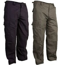 MILITARY COMBAT TROUSERS RIPSTOP MENS CARGO PANTS ARMY FISHING HUNTING BIKER