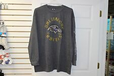 Baltimore Ravens Charcoal Cracked Logo NFL Team Apparel T-Shirt Big and Tall