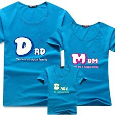 12-color Dad, Mom, Baby  a happy family  lovers Couples parent-child T-shirt  4#