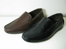 Mens Clarks Finer Sun Black Or Brown Leather Moccasin Style Slip On Shoes G Fit
