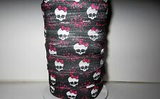 "PRINTED FOLD OVER ELASTIC-FOE MONSTER HIGH SKULL 5/8""*CHOICE 1, 3 or 5 YARDS"