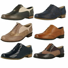Ladies Clarks Hamble Oak Leather Brogue Style Lace Up Shoes D Fitting