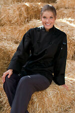 Uncommon Threads Executive Chef Coat, Black or White, XS to 2XL, 0425C