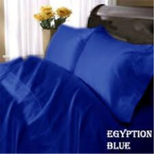 1000TC 1-PC Split Corner Tailored Bed Skirt Egyptian Blue Solid All Size & Drop