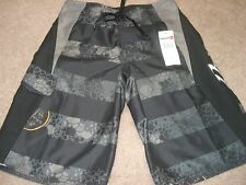 Quiksilver Rogue 2 By BoardShorts Black/Gray Polyester Latex Fly Retail $42