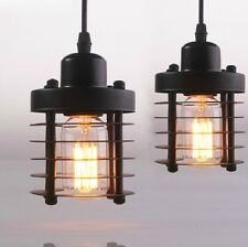 mini rustic small wrought iron chandelier vintage industrial pendant light
