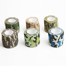 5cm x 4.5m Army Camo Rifle Shooting Hunting Fishing Camouflage Stealth Wrap Tape