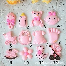 100pcs Mix color Cute Baby Series Resin Diy Mobile Phone Accessories 080001005