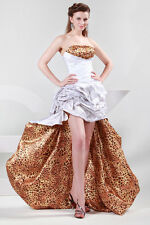 Luxury Leopard High-Low Party Queen Formal Ball Gowns Evening Prom Pageant Dress