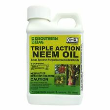 Neem Oil Certified Organic Insecticide / Fungicide / Miticide -  OMRI approved