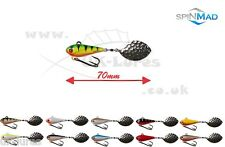 SpinMad TAIL SPINNER WIR 10g,   VAR. COLOURS   PERCH,  ZANDER, BASS, UK-Lures