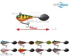 SpinMad TAIL SPINNER JIG MASTER 12g,   VAR. COLOURS   PERCH, CHUB BASS, UK-Lures