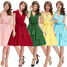 Elegant Vintage Rockabilly Retro Swing 40s 50s 60s pinup Housewife Evening Dress