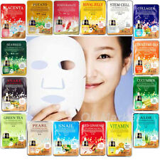 8 Face Mask Sheet & 2 Nose Pack / Facial Skin Care Lots Moisture Essence Korean
