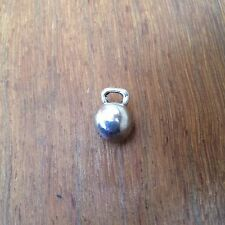 Cross Fit Kettlebell Charm pefect for Cross fit or Fitness jewellery silver/gold