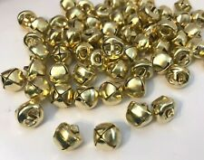 50 x SMALL BELLS,GOLD COLOUR, IRON ,approx.10MM DIAMETER, GREAT FOR CHRISTMAS