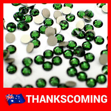 SWAROVSKI Crystal FlatBack 2058 Dark Moss Green 260 Foiled  Small Pack All Size