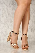New Sand Tan Faux Suede Pleated Peep Toe High Heels Wedge Sandals Stiletto Pumps