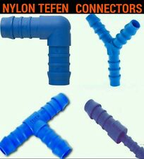 Plastic Barbed TEFEN Connector Pipe Hose Joiner Tubing Fittings Patrol Air Fuel