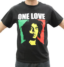 Bob Marley One Love Rasta Embroidered Graphic T-Shirts