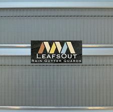 "LeafsOut Micro Mesh 7"" DIY Rain Gutter Guard Leaf Screen Cover Filter System"