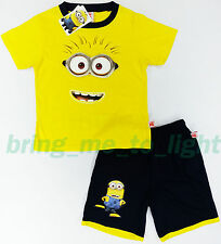 Despicable Me 2 Plush Minions Dave Outfit Boys Kids Games Toys T-Shirt + Shorts