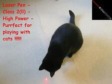 Laser Pen, Class 2(ll) 5mw output, red laser pointer - PURRFECT TOY for CATS !!