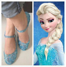 Movie Frozen Elsa Child Shoes Princess cosplay girl's Sandals  kid shoes