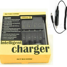 NiteCore i4 Universal  Battery Charger CR123A 26650 18650 AA/AAA + Car Charger
