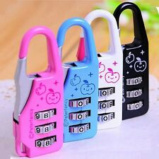 Mini 3 Digit Resettable Combination Travel Diary Luggage Suitcase Lock Padlock