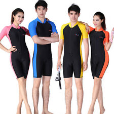 Snorkeling Wetsuit Rash Guard Surfing Surf Piece Swimwear Black Unisex S-L SOB6