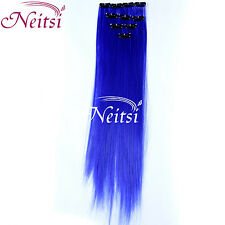 New Ombre Clip In On Hair Extensions Highlight Dip Synthetic Hair 2PCS Thick