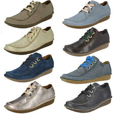 Ladies Clarks Funny Dream Leather Or Suede Casual Lace Up Shoes D Fitting
