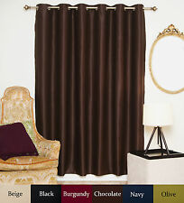 Wide Width Antique Brass Grommet Top Blackout Curtain 80 Inch by 84 Inch Panel