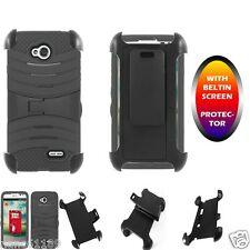 Belt Clip Case Skin Cover Belt-in Screen Protector For ZTE Unico LTE Z930L