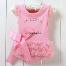 Baby Infants Girl Princess Romper Jumpsuits Playwear Playsuit Dress Outfit CaF8