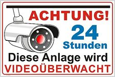 VIDEOÜBERWACHUNG /VIDEO / KAMERA / ÜBERWACHUNG /SCHILD Alu-Verbund 3mm  Video 5