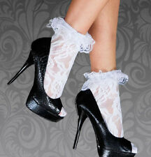 WOMENS LADIES SEXY FRILLY LACE RUFFLE ANKLE SOCKS ANKLETS