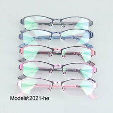 2021 Quality colorful optical frames half rim eyewear women metal eyeglasses