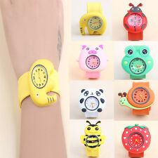 Fashion Nice Cartoon Girl Kid Quartz Sport Bendable Rubber Strap Wrist Watch