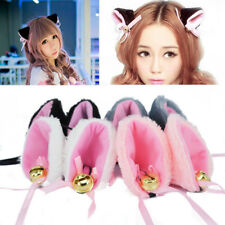 Hot Fashion Cosplay Party Anime Costume Cat Fox Ears Long Fur Hair Clip Pair R