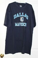 Dallas Mavericks Dark Navy Blue with Blue/White Letters Majestic T-Shirt
