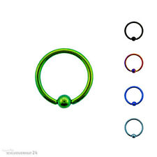 Titan G23 Captive ball Ring BCR Piercing Lip Nipple Intimate Tragus Ear Set