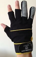 Fingerless Mechanic's Gloves by Easy Off Gloves - DIY Builders Work Warm Winter