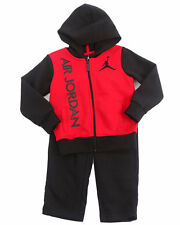 Air Jordan - Boys Black 2 Pc  Bright Lights  Fleece Set (Infant)