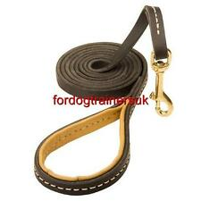 Leather Dog Lead with Strong Elegant Stitching | Dog Leash with Handle, Padded
