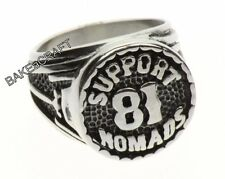 Nomads Biker Motorcycle Letter Number Ring