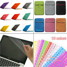 4in1 Matte Rubberized Hard Case+Soft Bag+Film For Macbook Air Pro 11 13 15 inch