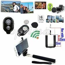Bluetooth Selfie Remote Control Shutter+Holder Monopod for iPhone 6 6Plus 5S 5 4
